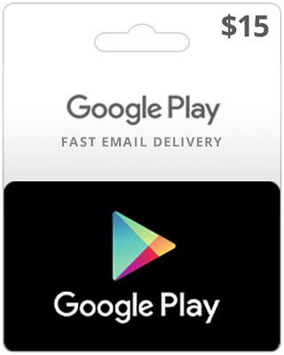 CA Google Play Gift Card $15 - Fast email delivery