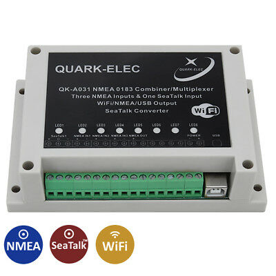 Quark QK-A031 NMEA 0183 Multiplexer, 3 NMEA inputs, SeaTalk Converter and WiFi