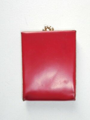 Vintage Laurita Red Ladies Wallet Coin Purse Bifold Clasp Coin Sorter