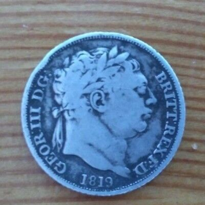 1819 British Silver Sixpence George III Coin Good 6p