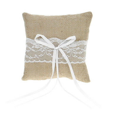 Cushion Rustic Wedding Decoration Ring Bearer Pillow Ribbon Wedding Party