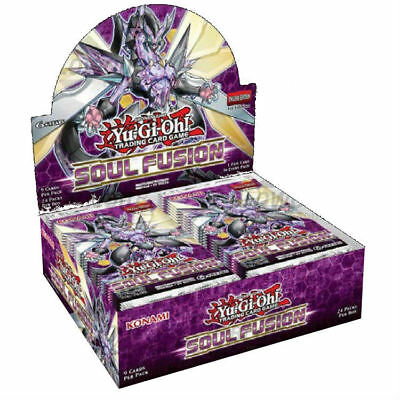 Yugioh 1ST EDITION SOUL FUSION FACTORY SEALED BOOSTER BOX (24 Packs) ENGLISH