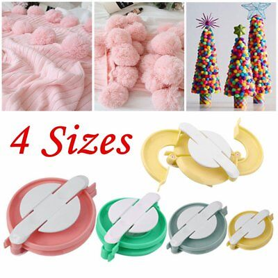 @_New 4 Sizes Pompom Maker Ball Weaver Needle Craft Knitting Loom Wool To