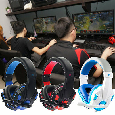 3.5mm Cool Surround Stereo Gaming Headset Headband Headphone with Mic for