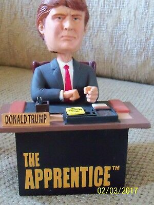 "Preowned New 'The Apprentice"" Donald Trump ""Your Fired"" Bobblehead"