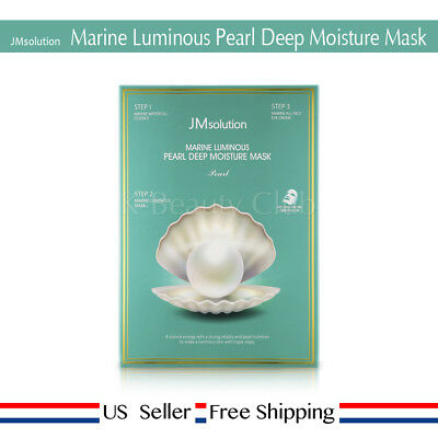 JM solution Marine Luminous Pearl Deep Moisture Mask (10pcs) + Free Sample US