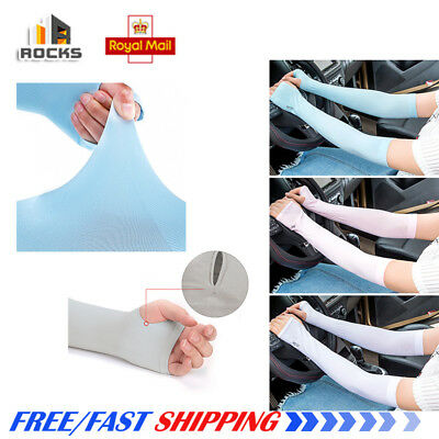 Outdoor Ice Arm Sleeves Sport Cooling Cover UV Sun Protection Sleeve UK-SELLER