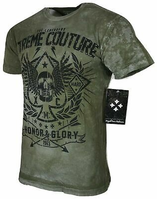 XTREME COUTURE by AFFLICTION Men T-Shirt THE LEGEND Skull Biker MMA GYM S-4X $40