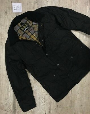Men`s BARBOUR ASHBY Black Waxed Jacket Coat Casual Size L/XL