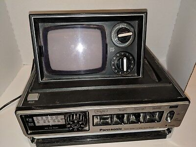 1977 Panasonic Portable TV  Pop up TR-535 (10) solid state/3 way sure power.