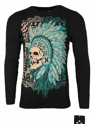 Xtreme Couture by AFFLICTION Men THERMAL T-Shirt FIGHTER PRIDE Biker MMA UFC $58