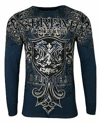 Xtreme Couture by AFFLICTION Men THERMAL T-Shirt LIBERTARIAN Biker MMA UFC $58