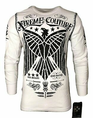 Xtreme Couture by AFFLICTION Men THERMAL T-Shirt CONNECT Eagle Biker MMA UFC $58