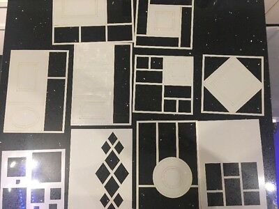 Selection Of Decorative Stencils And Masks Mixed Brands Geometric Shapes