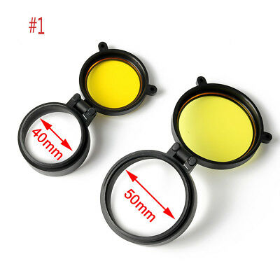 New Dustproof Scope Cover Lens Yellow Cover Caps Scope Yellow For Hunting 2pcs