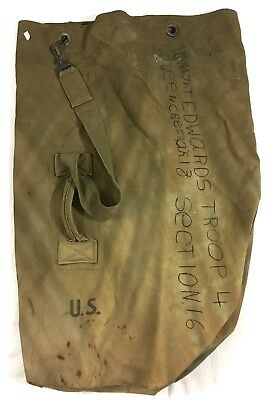 Wwii Us Army, Duffle Bag, Named, Dated 1945 #a12