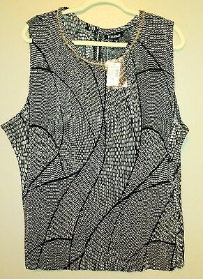 cce6f64a7b9 Nwt Roz   Ali Dressbarn Womens Plus Size 3X Dressy Sleeveless Top Shirt  Blouse