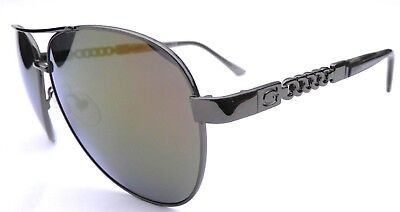 NEW GUESS GF0321 gold mirror lens aviator sunglasses