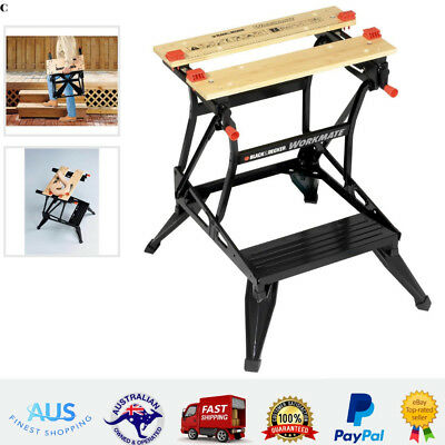 Black Decker Workmate Dual Height Foldable Frame Workshop Tools Work Bench Stand