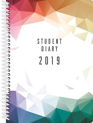 NEW NEW Diary 2019 Colplan Student Diary A5 Week to View Sprial Bound SC37SP