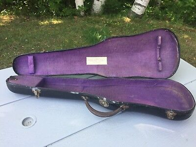 Antique Vintage Violin Case Boston Lyceum Bureau