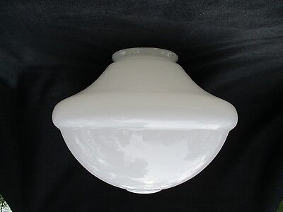 Vintage White Art-Deco Glass Ceiling Light/Lamp Shade