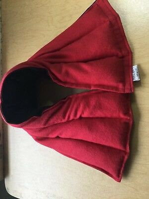rice heat pad hotcold shoulder neck wrap pack LONG  microwave Therapy RED BLACK