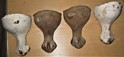4 Matching Antique Cast Iron Eagle Claw Foot Feet For Tub Bathtub