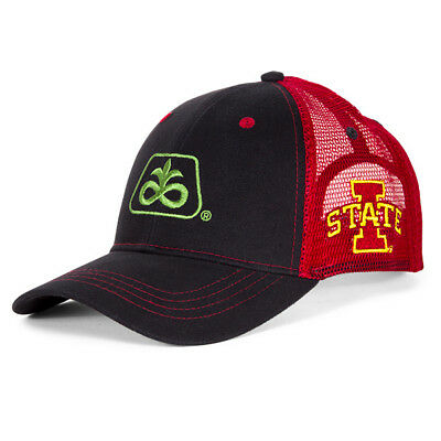 2018 PIONEER SEED *IOWA STATE CYCLONES* BLACK w/RED MESH HAT CAP *LOGO* NEW!
