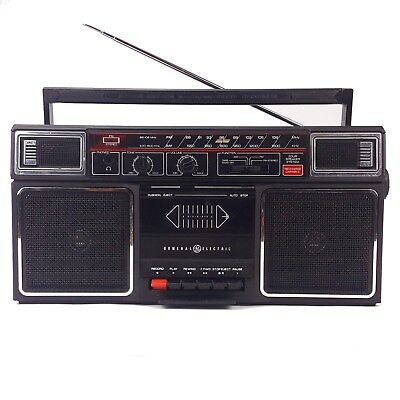 GE-3-5452A Boombox AM FM Stereo Cassette Recorder