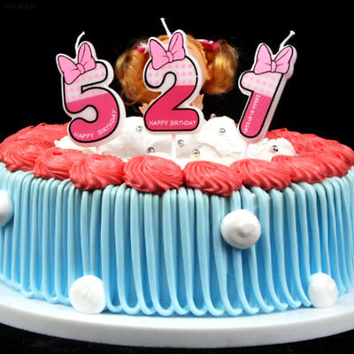 3842 Cartoon Cake Candle Party Decoration Topper Happy Birthday Numbers