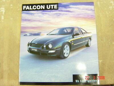 Ford Falcon Ute Brochure 7 2001  Booklet Au Inc Xr6 Xr8 Fcl 3417 Bad Condition