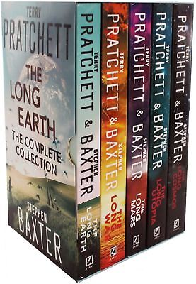 Long Earth Complete Collection By Terry Pratchett Stephen Baxter 5 Books Set NEW
