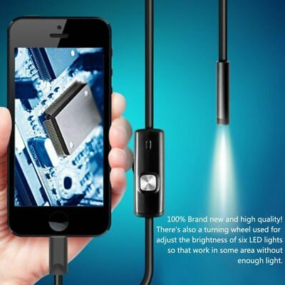 Waterproof HD Inspection Endoscope Camera Wifi Snake Borescope USB For Android