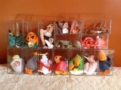 Lot Of 15 Ty Beanie Babies With Tags And Cases