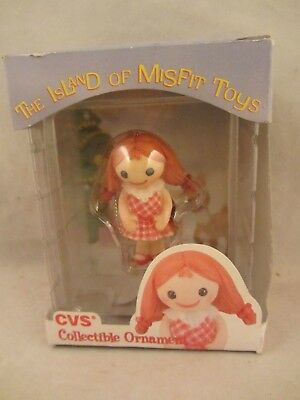 "Enesco  The Island of Misfit Toys  ""Misfit Doll""   CVS Ornament  NIB  (918D)"