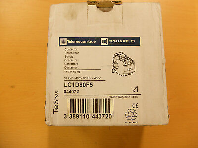 Telemecanique/Square D TeSys Contactor 80A 37kw 110V 50/60Hz AC Rated Coil