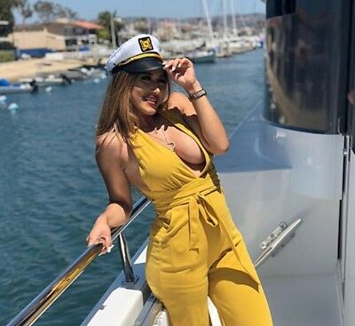 Captain Hat Sailor Boat Yacht Cruise Line Party Hat! Female Cap STAND OUT!  Logo f866f5a362e7