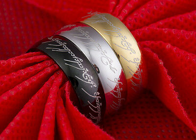 Lord Of The Rings One Ring Of Power Hobbit Stainless Steel Band Wedding Fashion