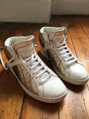 SNEAKERS LOUIS VUITTON Taille 38 Cuir Blanc baskets tennis chaussures de  sport d06645de1b3