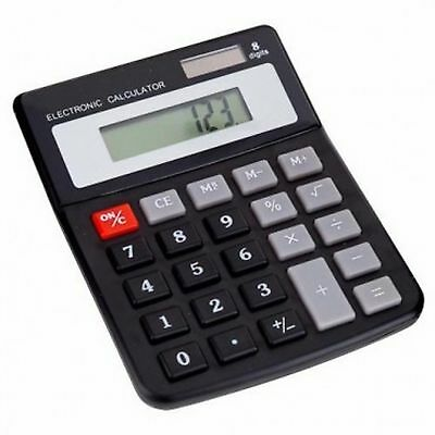 8 digit * LARGE DESKTOP CALCULATOR * inc. batteries * new + sealed * same day UK