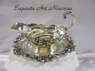 Victorian Sterling Silver Sauce Boat w/Matching Tray