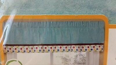 New Kidsline Animal Parade Window Valance Blue Red Polka Dot 60In By 14In