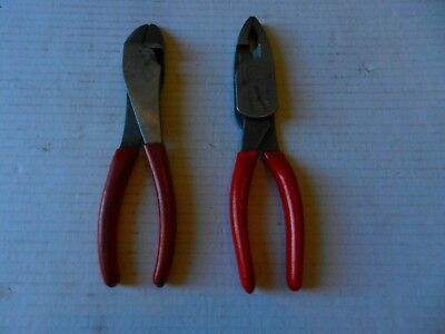 """SNAP-ON 7-7/8"""" COMBINATION PLIERS HL138ACP & Snap-On Wire Cutters 388BCP"""