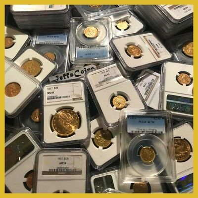 ✯US GOLD COINS ESTATE LOT ✯1x PCGS or NGC✯ OLD $2.5 $5 $10✯ P,S,D, CC PRE-1933✯