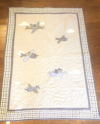 Pottery barn kids toddler quilt Airplanes