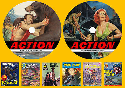Action Picture Library & Other Picture Library Comics On Two DVD Rom's