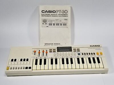 Casio PT-30 Vintage Electronic Keyboard Musical Instrument Synthesizer Piano