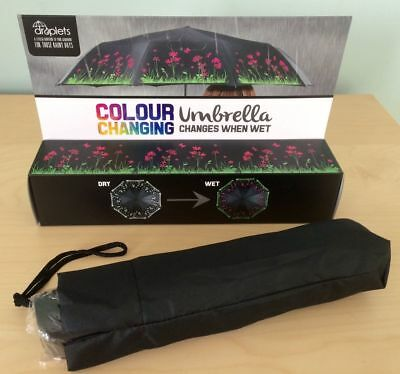 Gorgeous Flowers - Colour Changing - Umbrella By Droplets - Brand New In Box!