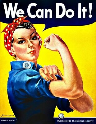 Rosie the Riveter We Can Do It Vinyl Sticker Decal Womens Rights Hippie Yeti Cup